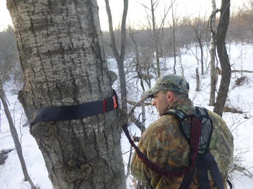 No matter whether you are setting up a stand or hunting. If you're up off the ground secure yourself to the tree. Remember, were all out there for fun, but your safety has got to be #1…