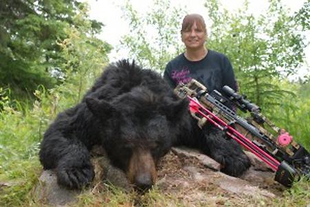 7? Saskatchewan Black Bear taken with my Tenpoint Crossbow and Swhacker Crossbow Broadheads