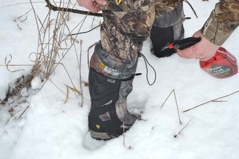 Scouting, hunting for sheds or for real, the author always sprays down with ScentBlocker.