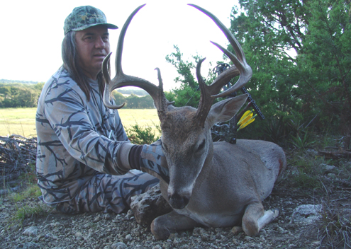 Robert Hoague managed to catch up with this buck by being persistent. Bucks this age are the travelers and had to dodge a lot of hunters to end up in Hoague's hero pic.