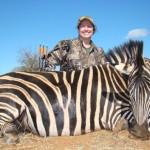 Mrs Cockburn proud of her Zebra.