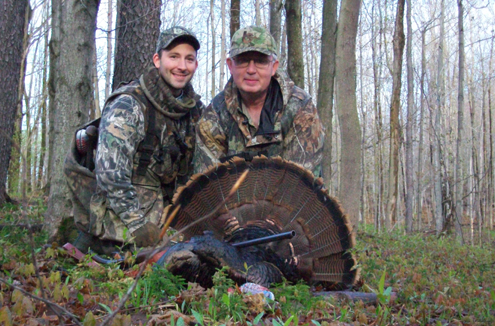 Picture of the author and his father Tim Murray, after another successful spring morning hunt.