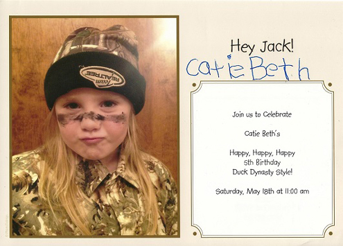 Catie Beth gave me this birthday invitation and I'm keeping it on my desk. It makes me smile.