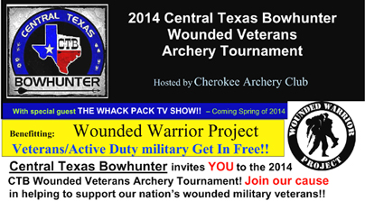 Cherokee Archery Club Invites You: Wounded Warrior Project