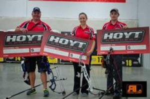 Hoyt Shooters Dominate NFAA 3-Star Third Leg