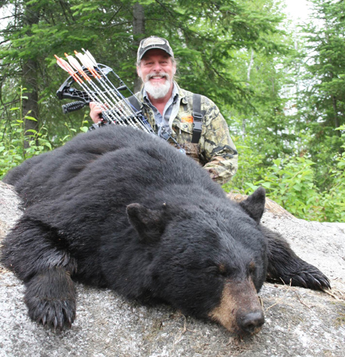 Author with is prized Canadian Black Bear.