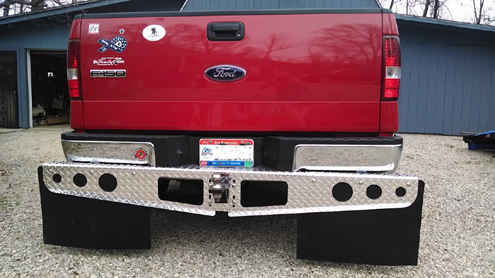 RockStar Hitch Mounted Mud Flaps on authors Ford 150
