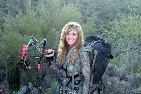 Rebecca Francis with Mathews Z7 Extreme