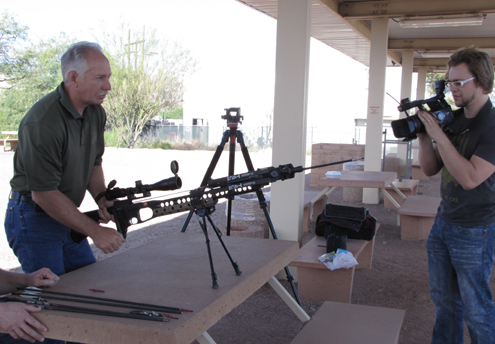 The shooter is Swhacker engineer, Rick Forrest. The bow a PSE TAC-15.