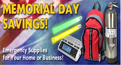Memorial Day Savings: Emergency Supplies