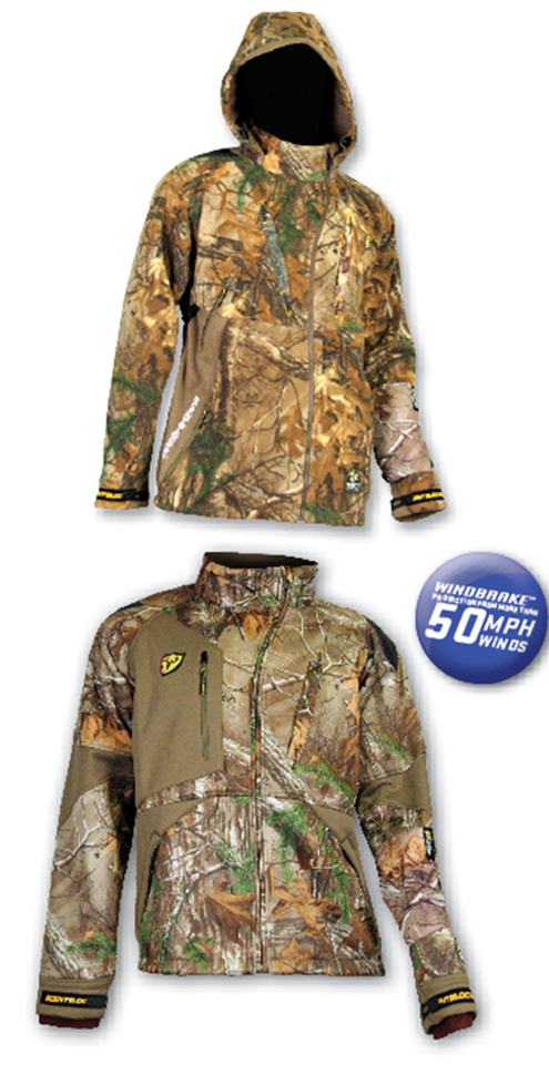 Both ScentBlocker's 2014 Alpha (top) and Matrix (bottom) jacket and pant sets incorporate new Windbrake™ technology.