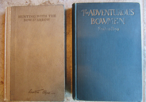 My office library contains numerous treasures like these signed books by Dr. Saxton Pope, whose writings influenced thousands to take up bowhunting.