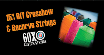 60X – 15% Off Crossbow & Recurve Strings