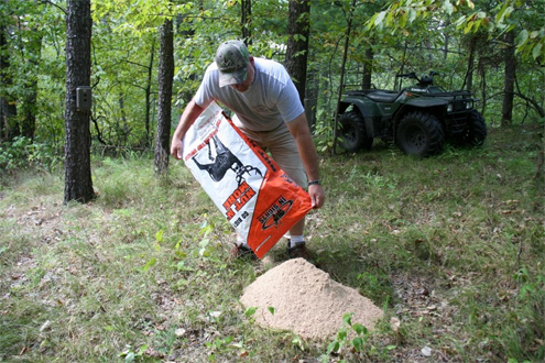 I put out a 40-pound bag of In Sights Nutrition's Buck Nut, also sold as Nut N More, in a high-traffic deer area to test how they would respond to it. They really loved it and cleaned the entire pile up within a very short time.