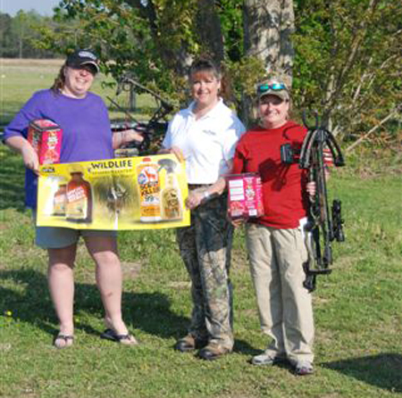 Jana and Jennifer with Lynne and their Wildlife Research Center Scent Killer Gold for Her kits.