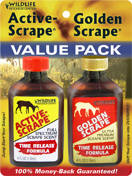 Active-Scrape® / Golden Scrape® - Combo The perfect one two punch to knock down that trophy buck!