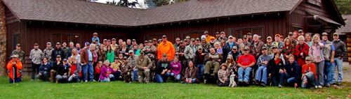 Team UFFDA - disabled hunters with guides and volunteers.