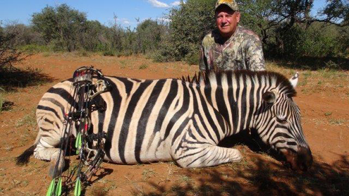 Author with his downed Zebra.