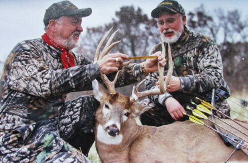 Here I'm green scoring a 140+ whitetail that Trebark Camo founder Jim Crumley arrowed on an Illinois hunt we shared. It captures the memorable moment by showing the trophy and proud hunter. Always treat the animals with the respect they deserve. No mugging, goofy grins, alcohol, cigarettes, or thumbs up signs that distract viewers and diminish the achievement.