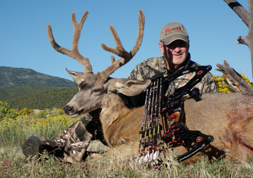 Author got his velvet buck and so did his hunting companion Don Dvoroznak.