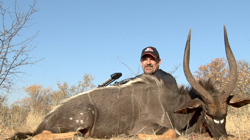 Steve Wagnitz owner of Lakewood Products with his beautiful Nyala.