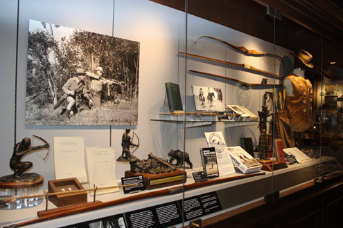 The Hall of Fame display of Art Young and Saxton Pope.