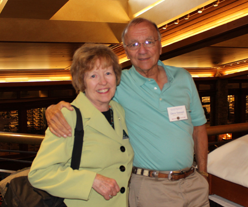 Author with Diane Miller, Executive Director, AHoF.