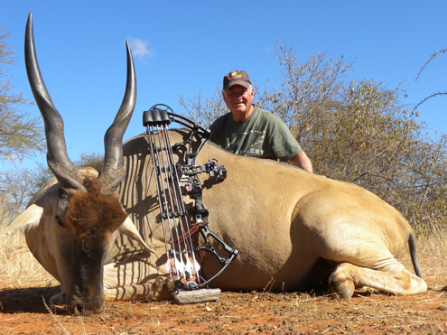 Don Dvoroznak of Ripcord with his trophy Eland.