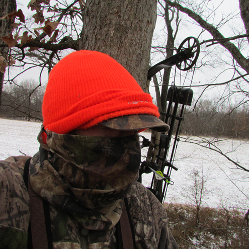 Bowhunting the entire season, if necessary, takes proper planning and attire. It's one thing to sit waiting when the weather is mild and leaves are still on the trees, but something entirely different when the temp is in the teens and the snowy ground frozen rock solid. Regardless, success means spending time in the woods whenever you've got an unfilled tag and empty freezer.