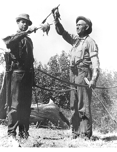 "Art Young with William ""Chief"" Compton."