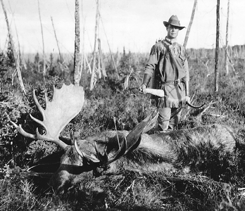 Art Young with his Alaskan Moose.