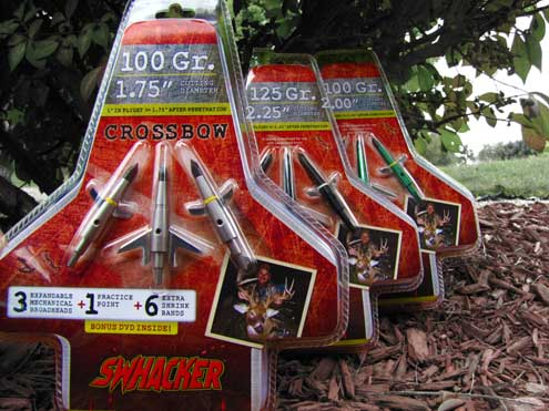 Swhackers new crossbow head is reliable and devastating, as are the entire line of Swhackers.