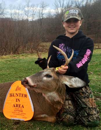 Sara, a new hunter made successful because of HECS: