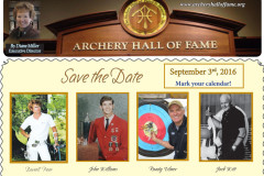Archery Hall of Fame: Sept. 3, 2016 Induction Ceremony