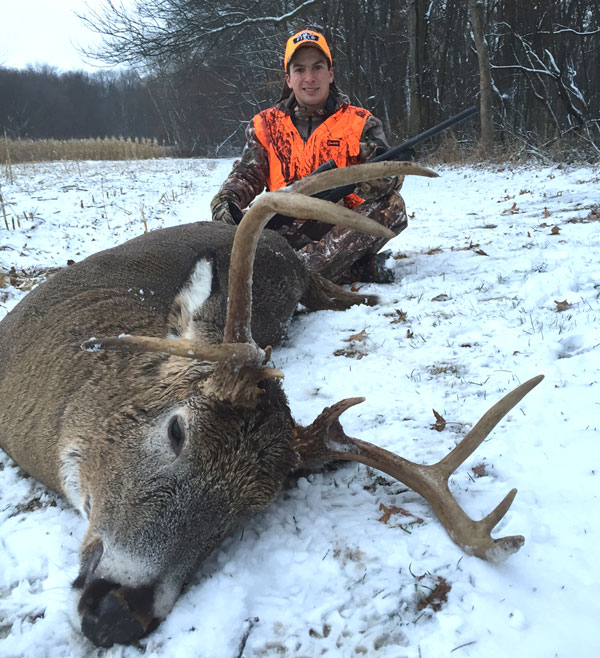 Wyatt Peary, Scott's oldest grandson took advantage of the situation and this nice buck was the result.