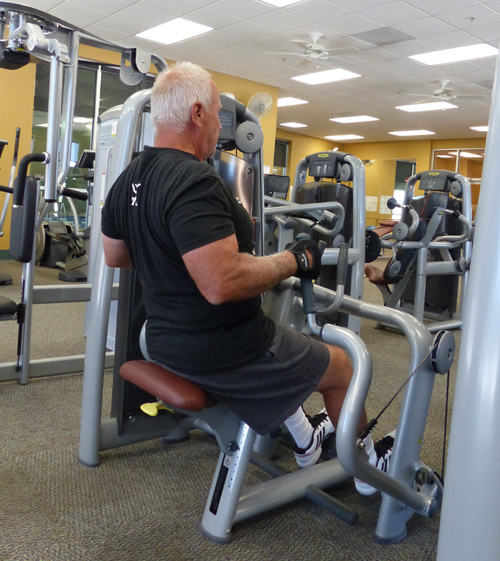 A strong back is important no matter what sport you are in so this machine helps with that.