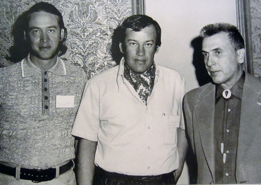 MRJ, Larry Bamford, & Glenn St. Charles This photo was snapped at an early 1970s Pope and Young banquet in Denver where I shook hands with P&Y Founder and outgoing President Glenn St. Charles. That's Dr. Larry Bamford (center) who served as my BOWHUNTER Hunting Editor from 1971-1980