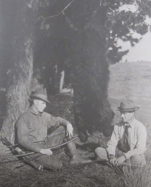 Art Young & Saxton Pope These pioneers were bowhunting trailblazers during the early 20th century. That's Art Young (left) and Dr. Saxton Pope posing with a black bear tagged on a northern California hunt. The documented exploits of these men – in books, magazine features, lectures, and a 1920s-era movie – inspired thousands to hunt with bows and arrows.