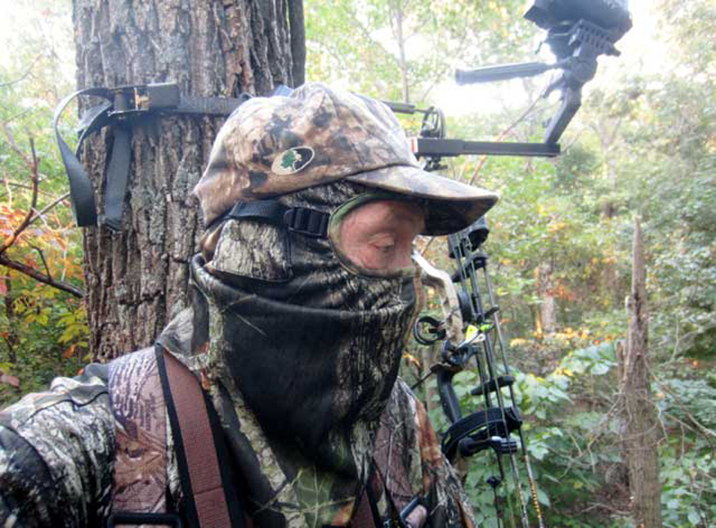 Wearing a safety harness is mandatory when hunting from elevated stands. It's also smart to wear a climber's strap or safety line when climbing into and out of stands.