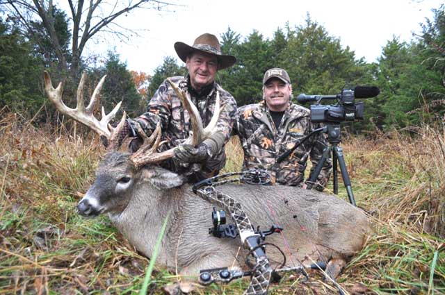 Author and Wayne with Jim's great Oak Creek Ranch buck.