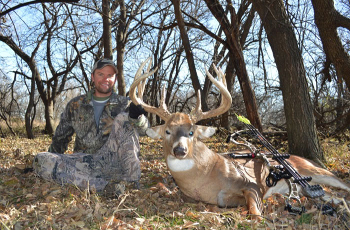 Author with the buck he almost chased away.