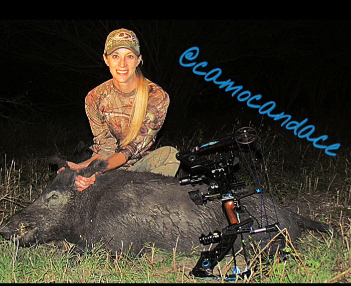 CamoCandace with another hog down.