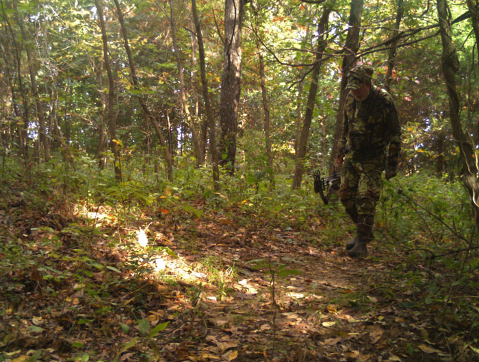 Never assume you're the only hunter in the woods, even on private property where others are not supposed to be. Always be aware of your surroundings and the possibility some trespasser could mistake you for a game animal. Be safety-conscious at all times.