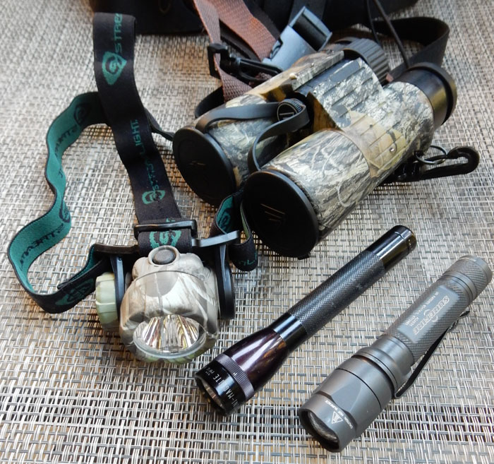 I consider flashlights and headlamps key parts of my personal hunting gear. As a safety precaution, I never walk to or from a stand in the dark without a light.