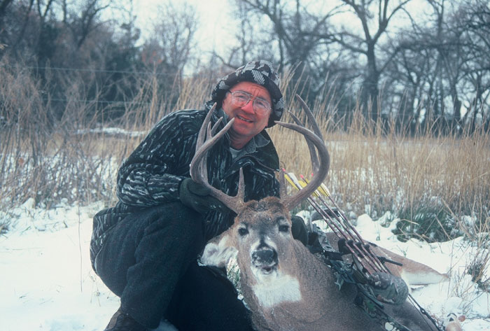 Not very wide, but just enough mass to get this 8-year-old buck into the record book.