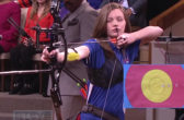 13 Year Old Archery Champion Sydney Simmerman On Steve Harvey Show