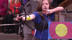 13 Year Old Archery Champion Sydney Simmerman On Steve Harvey Show