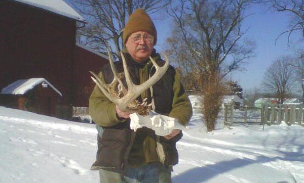 Gary Herbert shows off one of his managed bucks.