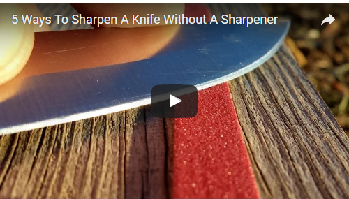 '5' Ways to Sharpen Your Knife – Without a Sharpener