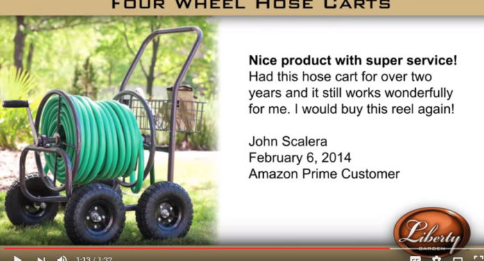 Liberty 4-Wheel Hose Cart With Flat-Free Tires